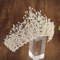 Ladies Exquisite Rhinestone Tiaras With Rhinestone (Sold in single piece)