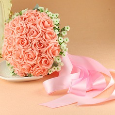 Romantic Round Fabric Bridal Bouquets/Bridesmaid Bouquets -