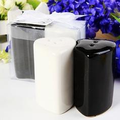 Doppelte Herzen Keramik Salz-und Pfefferstreuer (Set mit 2 Stück)