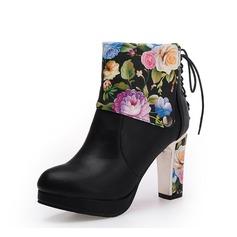 Naisten Keinonahasta Piikkikorko Avokkaat Kengät Nilkkurit jossa Nauhakenkä kengät