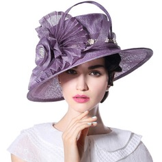 Ladies' Beautiful/Fashion/Glamourous/Elegant/Unique/Amazing/Eye-catching/Charming/Fancy/Romantic/Vintage/Artistic With Flower Beach/Sun Hats