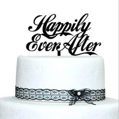 Brev Akryl Bryllup Kake Topper
