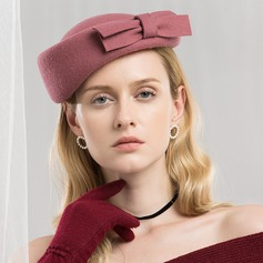 Damer' Enkel/Romantiskt Ull med Bowknot Basker Hat