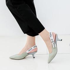 Mulheres Pano Salto agulha Sandálias Bombas Fechados com Laço de fita sapatos