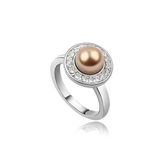 Fashional Alloy With Pearl Ladies' Rings