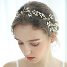 Ladies Glamourous Alloy/Imitation Pearls Headbands Rhinestone (Sold in single piece)