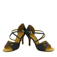 Femmes Suède Talons Latin avec Boucle Ouvertes Chaussures de danse
