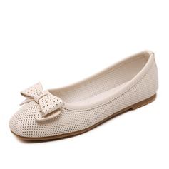 Women's Leatherette Flat Heel Flats With Bowknot Others shoes