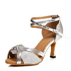 Kvinder Patenteret Læder Hæle sandaler Latin med Ankel Strop Dansesko