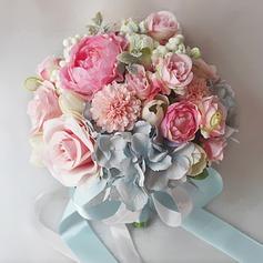 Lovely Cetim Buquês de noiva/Buquês da nama de honra -