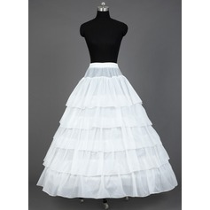 Women Satin Floor-length 5 Tiers Petticoats
