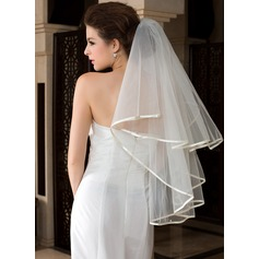 One-tier Waltz Bridal Veils With Ribbon Edge (006036617)