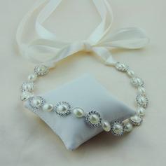 Dame Enestående Satin Pandebånd med Venetiansk Perle (Sælges i et enkelt stykke)