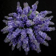 Smuk/Lavendelfarvet Friform Satin Brudepige Buketter - (123031369)