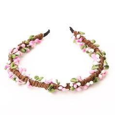 Lovely Tecido/Plástico Capacete da menina flor/Flores & penas/Tiaras