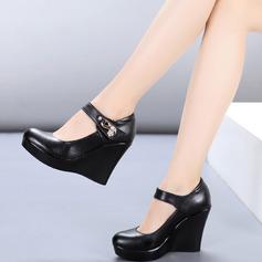 Женщины Натуральня кожа На каблуках Обувь для Персонала Обувь для танцев