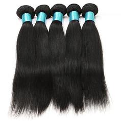 4A Non remy Tout droit les cheveux humains Tissage en cheveux humains (Vendu en une seule pièce) 100 g
