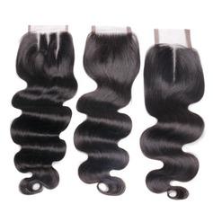 """4""""*4"""" 5A Corps les cheveux humains Fermeture (Vendu en une seule pièce)"""