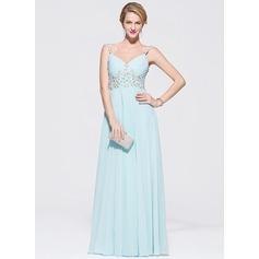 Vestidos princesa/ Formato A Amada Longos De chiffon Tule Vestido de baile com Bordado Apliques de Renda lantejoulas