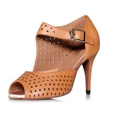 Женщины Натуральня кожа На каблуках Сандалии Латино Обувь для танцев
