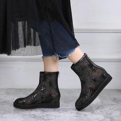 Naisten Mesh Matalakorkoiset Heel Kengät jossa Paljetti Vetoketju kengät