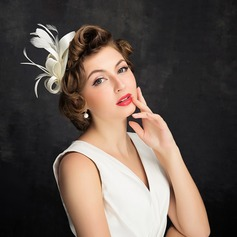Ladies' Elegant Feather/Tulle With Feather Fascinators/Tea Party Hats (196105062)
