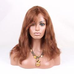 5A Vierge/Remy Tout droit Cheveux humains Perruques avant en dentelle 150g