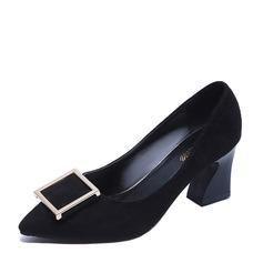 Vrouwen Suede Chunky Heel Pumps schoenen