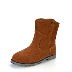Women's Suede Flat Heel Boots Ankle Boots With Split Joint shoes