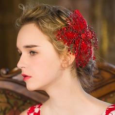 Elegant Rhinestone/Tissue Combs & Barrettes/Flowers & Feathers