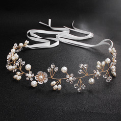 Ladies Rhinestone/Imitation Pearls Headbands (Sold in single piece) (042221372)