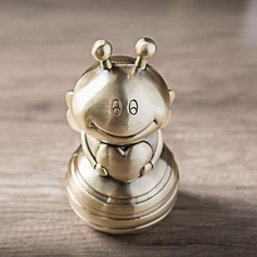 The Diligent Bee Gold Piggy Bank Valentine's Day and Wedding Gift (Sold in a single)