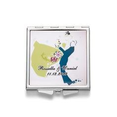 Personaliseret Kasseformet Rustfrit Stål Compact Mirror (118202279)