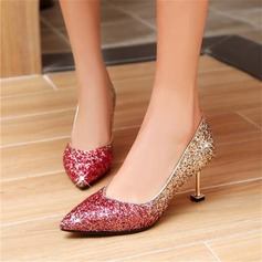 Women's Sparkling Glitter Cone Heel Pumps With Others shoes