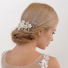 Damen Klassische Art Legierung Kämme und Haarspangen mit Venezianischen Perle (In Einem Stück Verkauft)