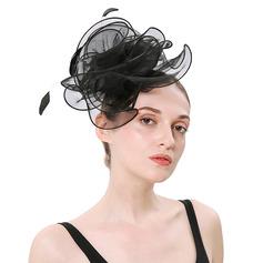 Dames Eenvoudig/Mooi Organza met Feather Fascinators