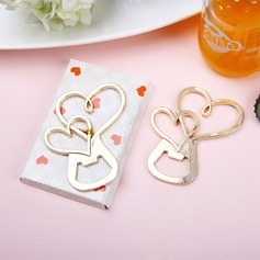 Heart Within A Heart Heart Shaped Zinc Alloy Bottle Openers (Set of 4)