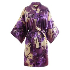 Bride Bridesmaid Polyester With Short Floral Robes Kimono Robes (248150355)