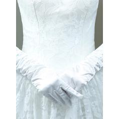 Baumwolle Ellenbogen Länge Braut Handschuhe mit Bestickt