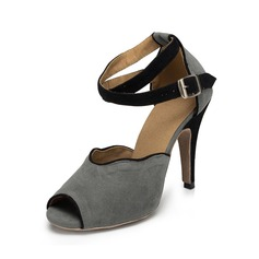 Femmes Suède Talons Sandales Latin Chaussures de danse