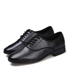 Men's Real Leather Flats Latin Dance Shoes (053201946)