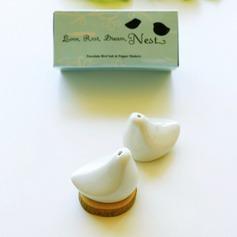 """""""Oiseaux d'amour"""" Beaux Oiseaux/Design d'oiseau Céramique Salière et poivrier (Lot de 2)"""