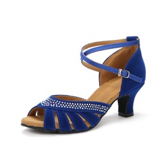 Women's Suede Heels Sandals Latin With Ankle Strap Dance Shoes (053077248)