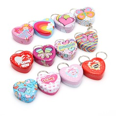 Lovely Heart-shaped Favor Tin (Set of 12)
