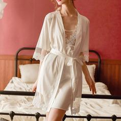 Poliéster Clássico Nupcial/Feminino roupa de dormir