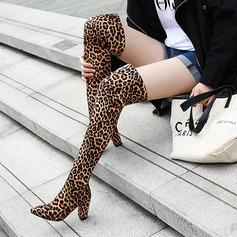 Suède Talon bottier Chaussures plates Compensée Bottes mi-mollets Bottes cavalières chaussures