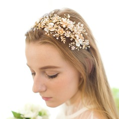 Handmade Alloy/Freshwater Pearl Headbands