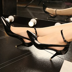Women's Leatherette Stiletto Heel Pumps shoes (085112024)
