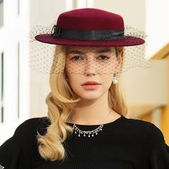 Ladies ' Enkle/Nice/Fancy Uld med Tyl Diskette Hat/Tea Party Hats