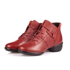 Mulheres Couro verdadeiro Tênnis Treino Sapatos de dança